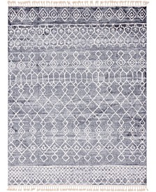 "Bridgeport Home Levia Lev1 Dark Gray 9' 3"" x 12' Area Rug"