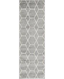 Bridgeport Home Plexity Plx1 Light Gray 2' x 6' Runner Area Rug