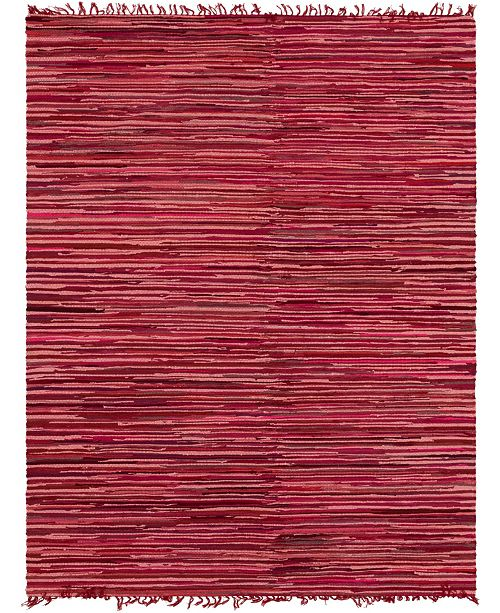 Bridgeport Home Jari Striped Jar1 Red 8' x 10' Area Rug