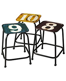 CLOSEOUT! Butler Trio Industrial Stool Set, Quick Ship