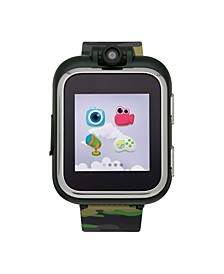 PlayZoom Kids Smartwatch with Olive Camouflage Printed Strap