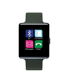 iTouch Air Smartwatch 41mm Gunmetal Case with Olive Strap
