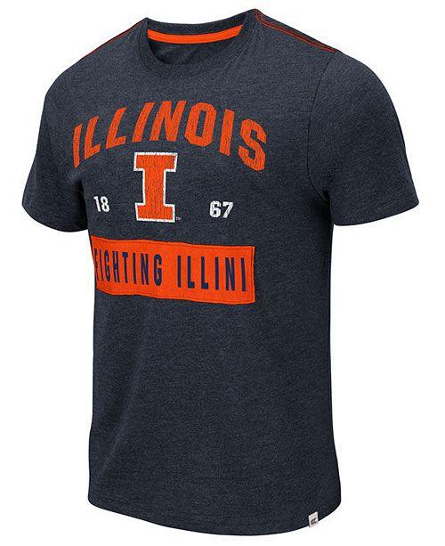 Colosseum Men's Illinois Fighting Illini Team Patch T-Shirt