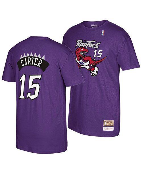 2c62623d ... Mitchell & Ness Big Boys Vince Carter Toronto Raptors Hardwood Classic  Player T-Shirt ...