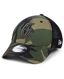 New Era Baltimore Orioles Camo Trucker 39THIRTY Cap