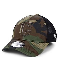 New Era Cleveland Indians Camo Trucker 39THIRTY Cap