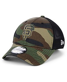 San Francisco Giants Camo Trucker 39THIRTY Cap