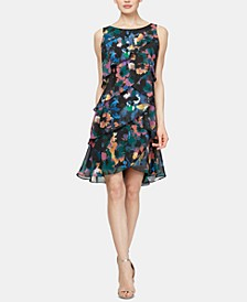 Floral-Print Tiered Shift Dress