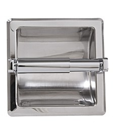 Arista Recessed Toilet Paper Holder Chrome Finish