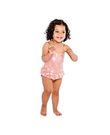 Masala Baby Girls Ruffled One Piece Cactus