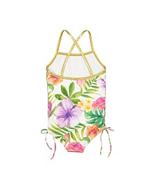 Masala Baby Girls Crossback One Piece Flamingo Island