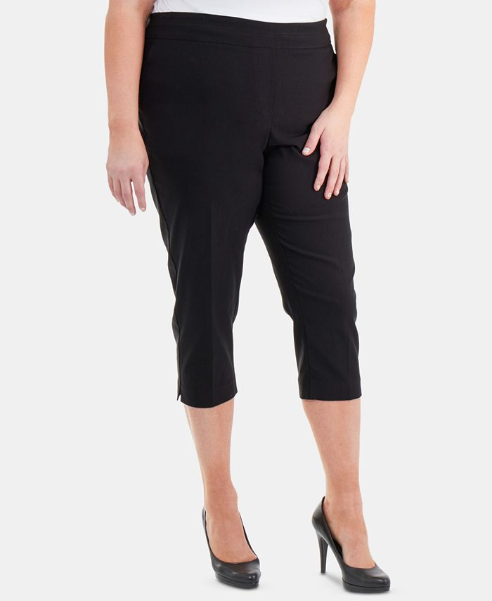 NY Collection - Plus Size Pull-On Capri Pants