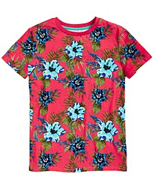 Big Boys Floral T-Shirt, Created for Macy's