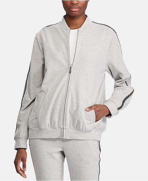Lauren Ralph Lauren Stripe-Trim Bomber Jacket
