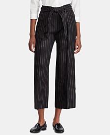 Lauren Ralph Lauren Stripe-Print Wide-Leg Pants