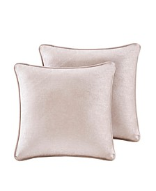 "Luxe 18"" x 18"" Chenille Square Pillow Pair"