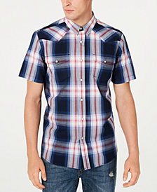 American Rag Men's Taylor Regular-Fit Plaid Western Shirt, Created for Macy's