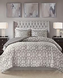 Madison Park Savannah Full/Queen 3 Piece Jacquard Duvet Set