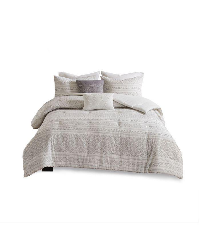 Urban Habitat - Lizbeth King/California King 5 Piece Cotton Clip Jacquard Comforter Set