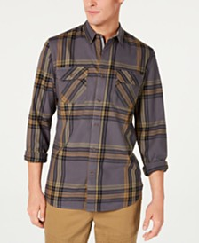 American Rag Men's Kane Plaid Shirt, Created for Macy's