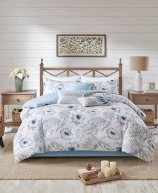 Milo Queen 7 Piece Cotton Printed Comforter Set