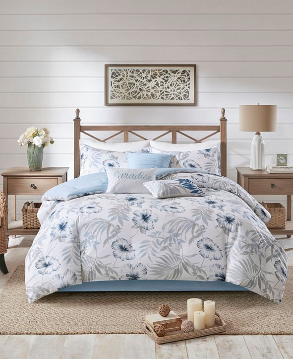 Madison Park CLOSEOUT! Milo Queen 7 Piece Cotton Printed Comforter Set