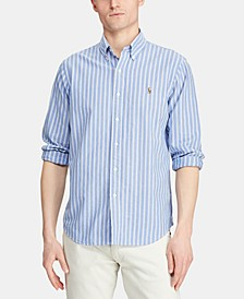 Men's Classic Fit Stripe Oxford Shirt