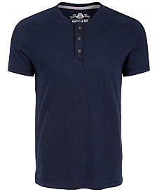American Rag Men's Heathered Henley, Created for Macy's