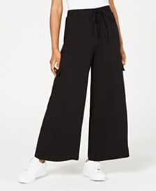 American Rag Juniors' Wide-Leg Cargo Pants, Created for Macy's