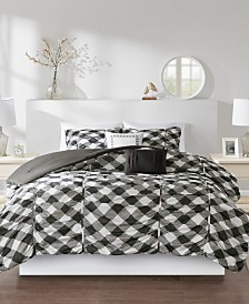 Intelligent Design Kelsie Full/Queen 5-Pc. Ruched Gingham Print Comforter Set