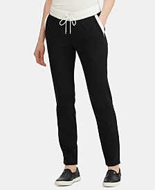 Lauren Ralph Lauren Contrast-Trim French Terry Cotton Jogger Pants