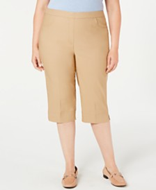 Alfred Dunner Plus Size Classic Capri Pants