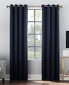 """Sun Zero Oslo 52"""" x 84"""" Theater Grade 100% Blackout Grommet Curtain Panel"""
