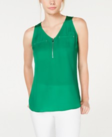 BCX Juniors' Quarter-Zip Tank Top