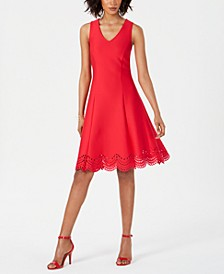 Fit & Flare Lasercut-Hem Dress