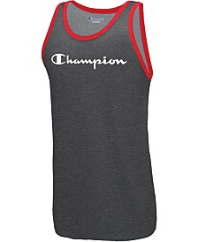Champion Men's Logo Ringer Tank Top