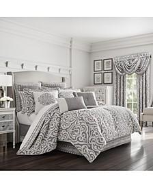 J Queen Pierce Charcoal Queen Comforter Set