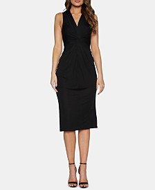 Bardot V-Neck Knit Midi Dress