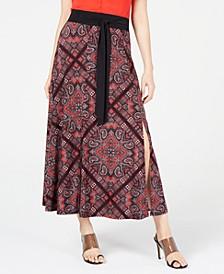 INC Printed Tie-Waist Skirt, Created for Macy's