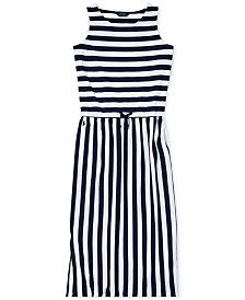 Polo Ralph Lauren Big Girls Striped Cotton Maxi Dress