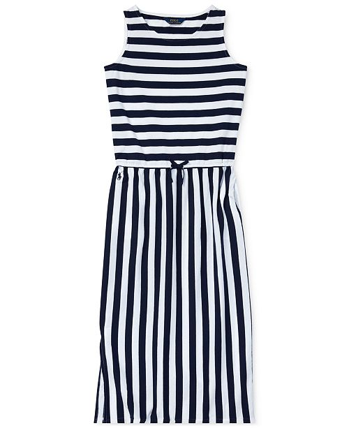 dbd0950fc9 Polo Ralph Lauren Big Girls Striped Cotton Maxi Dress & Reviews ...