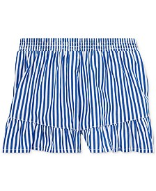 Polo Ralph Lauren Little Girls Striped Ruffled Cotton Shorts