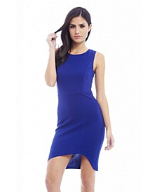 Plain Asymmetric Front Dress