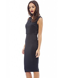 AX Paris Sleeveless Overlay Midi Dress