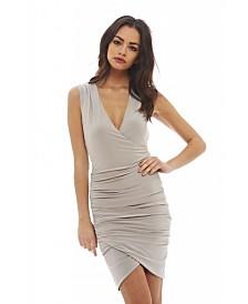 AX Paris Sleevless V Front Slinky Dress