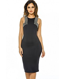 AX Paris Embellished Cut in Bodycon Dress