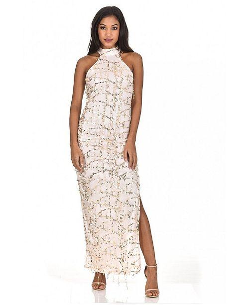 AX Paris Cut in Neck Sequin Maxi Dress