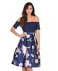 AX Paris Floral 2 in 1 Skater Dress