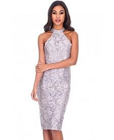 AX Paris Lace Cut in Neck Midi Dress