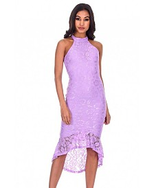 AX Paris Racer Neck Lace Fish Tail Dress